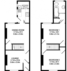 House two doors down floorplan