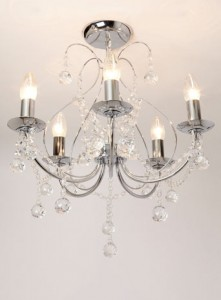 BHS Sapparia Chandelier for the guest room.